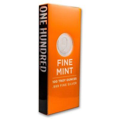 SPECIAL PRICE! 100 oz Silver Bar - 9Fine Mint - SKU #176487