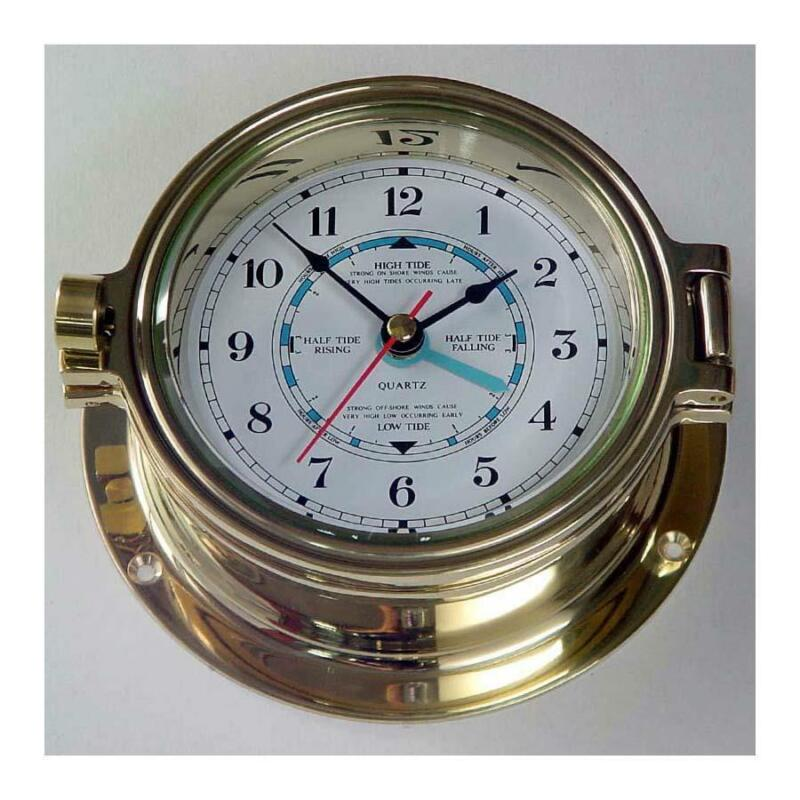 Nautical Tide Clock, Polished Brass