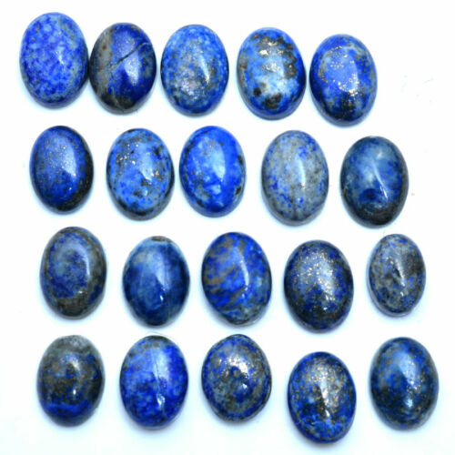 20 Pcs Natural Lapis Lazuli Gold Pyrite Untreated Loose Gemstones Lot ~14mm-17mm