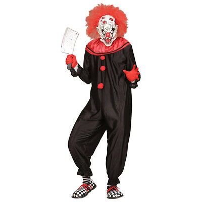 KILLER CLOWN HERREN KOSTÜM # Halloween Horror Psycho Party Overall S-M-L-XL - Herr Groß Kostüm