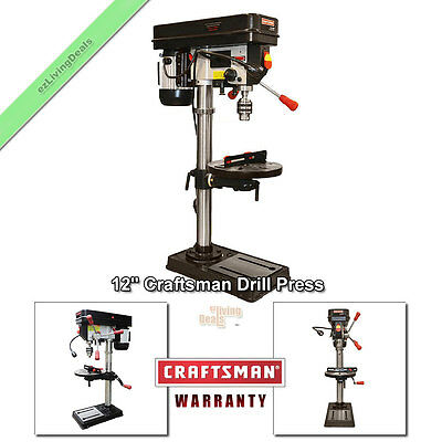 Craftsman Drill Press 12 Laser Led Benchtop 12 Hp Bench Top Adjustable Table