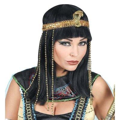 CLEOPATRA PERÜCKE KOPFSCHMUCK Karneval Ägypterin Pharao Damen Kostüm - Cleopatra Schmuck Kostüm