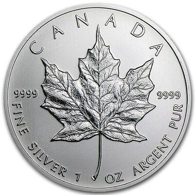 2013 - 1 oz Canadian Silver Maple Leaf Coin - One Troy oz .9999 Bullion