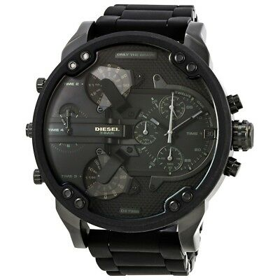 New Diesel Dz7396 Mr  Daddy 2 0 Dial Chronograph Stainless Steel Mens Watch