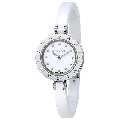Bvlgari B.zero1 White Ceramic Bracelet  White Dial Ladies Watch 102178