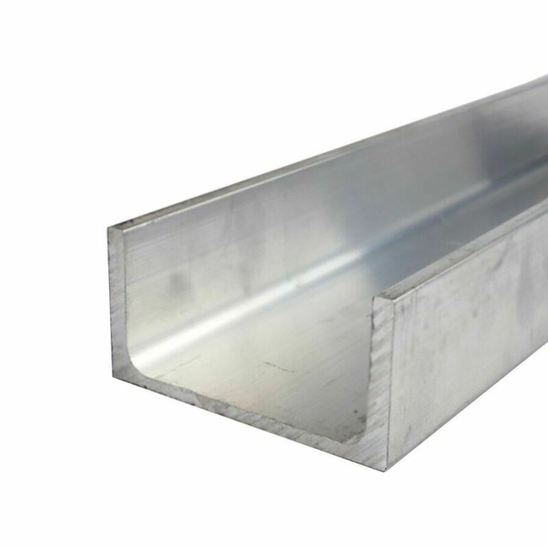 "6061-T6 Aluminum Channel, 10"" x 3.5"" x 60 inches"