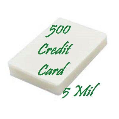 500 Credit Card 5 Mil Laminating Pouches Laminator Sheets 2-18 X 3-38