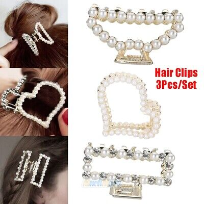 3xPearl Hair Clip Barrettes 2019 Fashion For Women Handmade Hairpins - Wholesale Accessories For Women