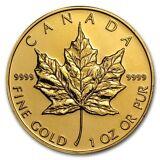 SPECIAL PRICE! 1 oz Gold Canadian Maple Leaf Coin Random Year BU - SKU #87709