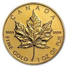 1 oz Gold Canadian Maple Leaf Coin Random Year - SKU #87709