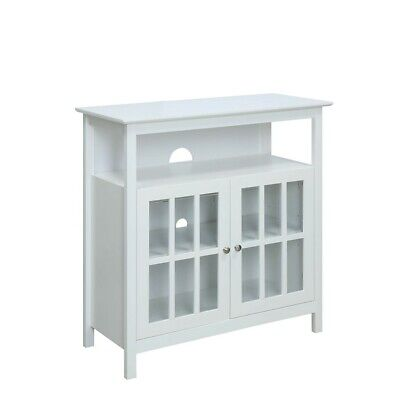 Convenience Concepts Big Sur Highboy TV Stand, White - 8066070W ()