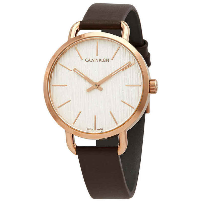 Calvin Klein Even Quartz Silver Dial Ladies Watch K7B236G6