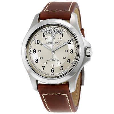 (Hamilton Khaki Field King Automatic Silver Dial Men's Watch H64455523)