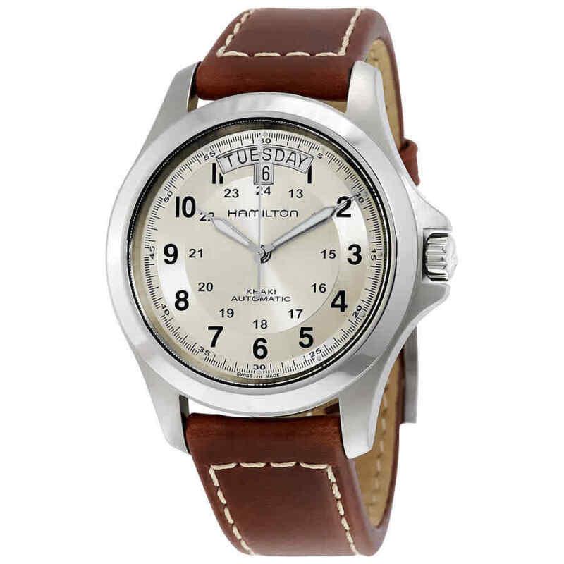 Hamilton-Khaki-Field-King-Automatic-Silver-Dial-Men-Watch-H64455523