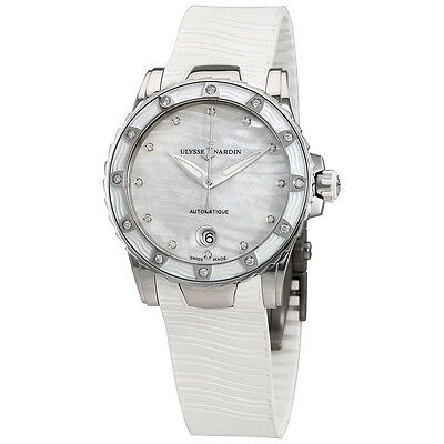 Ulysse Nardin Lady Marine Diver Mother of Pearl Dial Ladies Watch 8153-180E-3-10