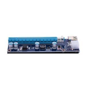 VER 009S PCI-E Riser 1x to 16x with LED, USB 3.0 Cable, 6 pin to 8 (6+2) pin Cable, Gold-Plated Connectors SALE