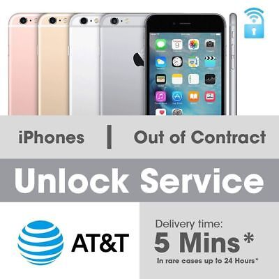 iPhone 7 7+ 6 6+ SE 5 AT&T Factory Unlock Code Service fast 10m - 24hrs