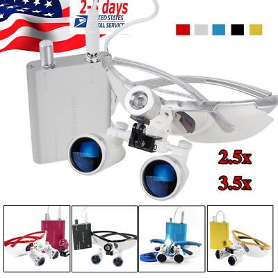 3.5x 420 2.5x320 Dental Surgical Binocular Loupes Optical Glasshead Light Lamp