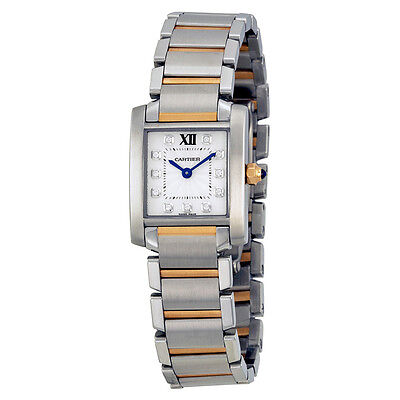 Cartier Tank Francaise Small Model 18k Rose Gold and Steel Watch WE110004