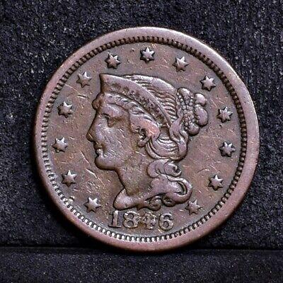 1846 Large Cent - Fine Details (#34629)