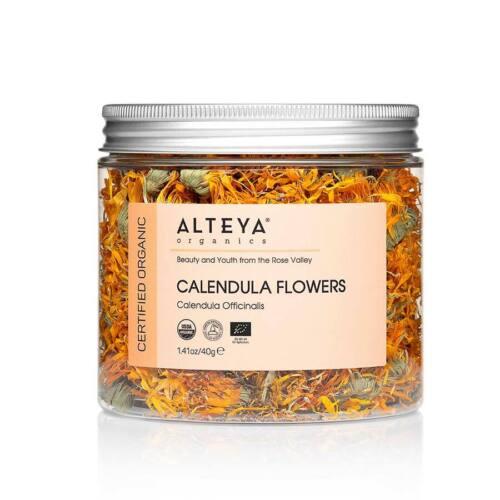Alteya Organics Dry Calendula Flowers USDA Certified Organic Herbal Tea, 1.35 Fl