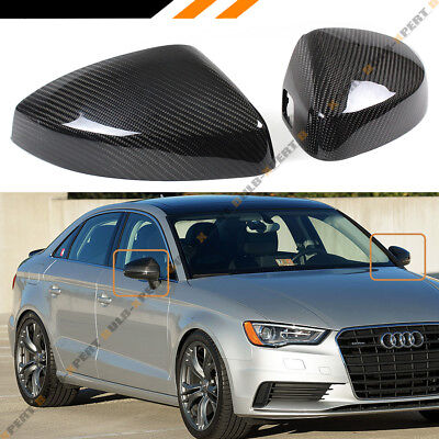 CARBON FIBER REPLACEMENT MIRROR COVERS FOR 14 18 AUDI A3 S3 RS3 WITH LANE ASSIST