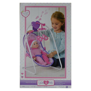 You and Me Musical Doll Swing - NEW