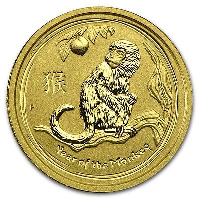 2016 ~ 1/10th~OZ.  PURE .9999 GOLD ~ YEAR  of the  MONKEY ~ PERTH MINT ~ $174.88