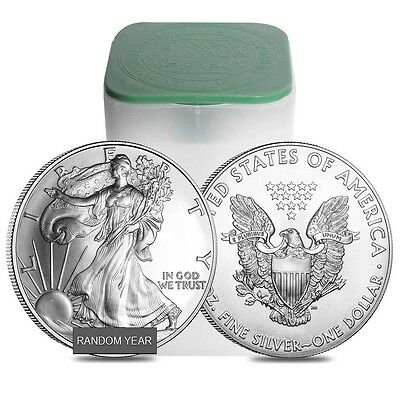 Купить Roll of 20 - 1 oz Silver American Eagle BU (Random Year)