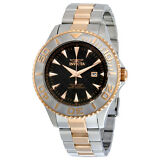 Invicta Pro Diver Black Carbon Fiber Dial Two-tone Stainless Steel Mens Watch