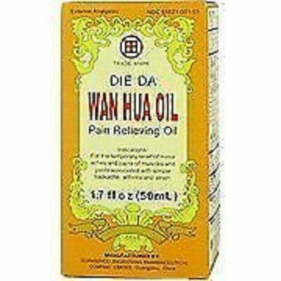 Die Da Wan Hua Oil 1.7 Fluid Ounce For External Use, For Minor Pain Relief