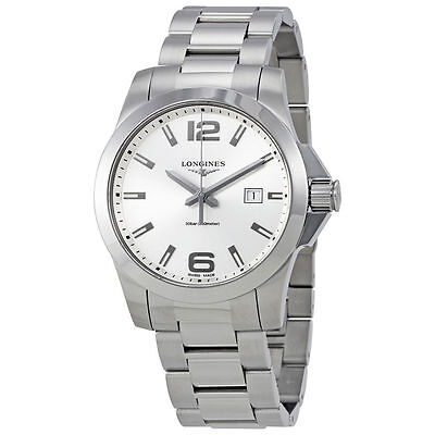 New Longines Conquest Silver Dial Stainless Steel Men's Watch L37604766