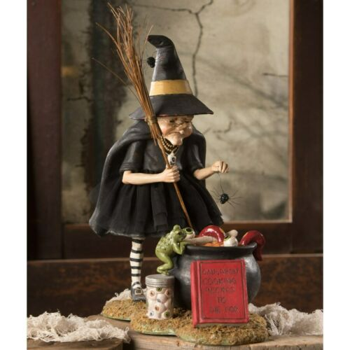 """NEW 2020 Bethany Lowe Halloween """"Cauldron Cooking Witch"""" TD9065"""