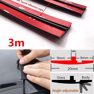 3m Car Rubber Seal Strip Windshield Roof Panel Pillar Gap Seal Weatherstrip 20mm ()