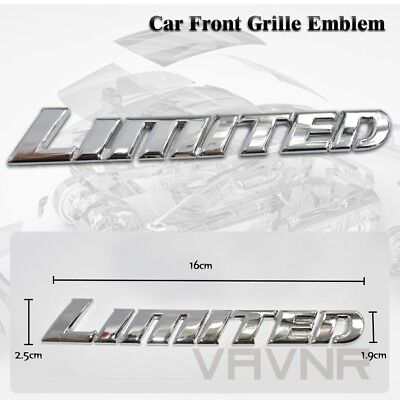 Hot Car Auto Truck 3D Metal Finished Limited Front Grille Grill Badge Emblem