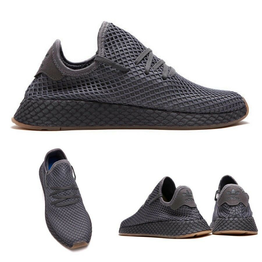 a5e914bc9 Adidas Originals Deerupt Runner Shoes CQ2627 Grey SIZE 4-13. **Limited  quantity**. black