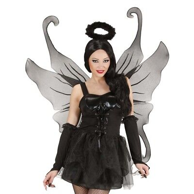 SCHWARZE XXL FLÜGEL # Halloween Vamp Teufel Engel Hexen Damen Kostüm Party (Halloween Engel)