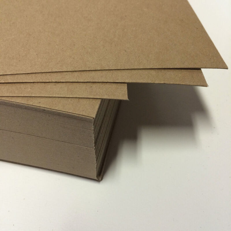 """Chipboard 22 pt - 8.5x11"""" full sheets 0.022 Lightweight 25 - 200 quantity crafts"""