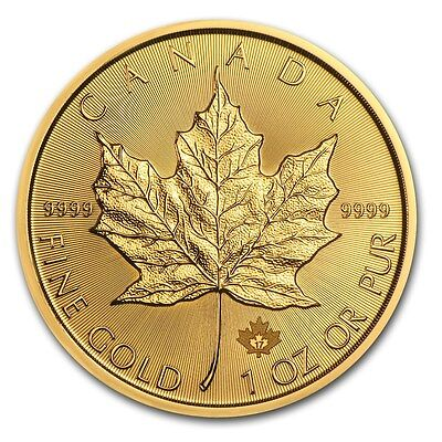 2017 Canada 1 Oz Gold Maple Leaf Coin Brilliant Uncirculated   Sku  115850