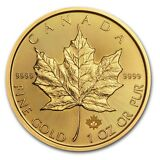 SPECIAL PRICE! 2017 Canada 1 oz Gold Maple Leaf BU - SKU #115850