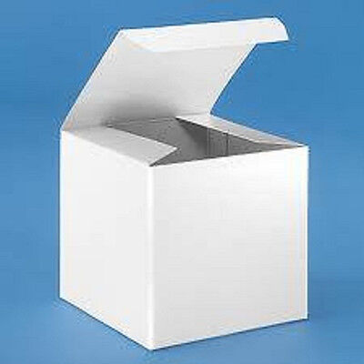 Lot Of 10 4x4x4 Gift Boxes White Lightweight Cardboard