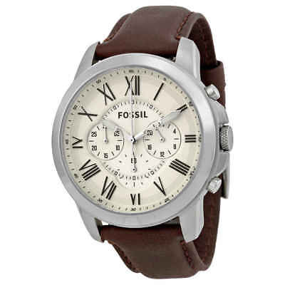 Fossil Grant Chronograph Brown Leather Men