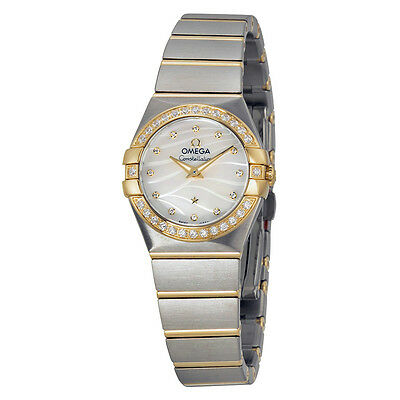 Omega Constellation Mother of Pearl Dial Steel and Yellow Gold Diamond Ladies