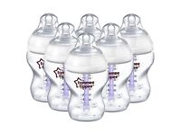 tommee tippee closer to nature six vented bottles (NEW AN BOXED)