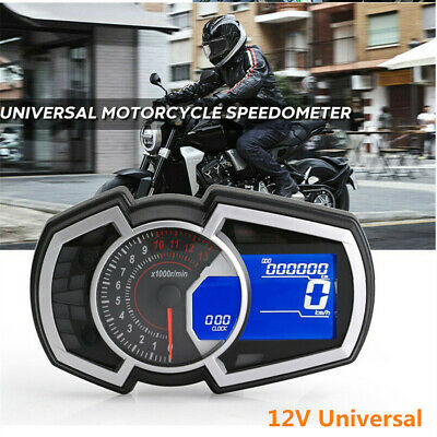 Multi-Function Motorcycle Speedometer Odometer RPM Fuel Gauge N-Gear Tachometer