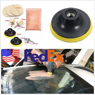 9 Pcs Universal US Stock Autos Glass Polishing Kit Polishing Pad Oz Cerium Oxide