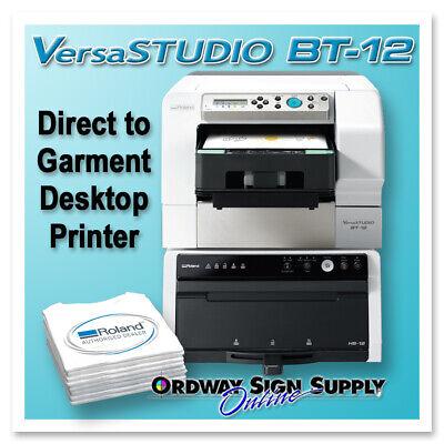 Dem Roland Versastudio Bt-12 Direct Garment Desktop Printer 2 Year Warranty