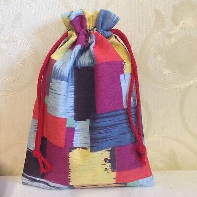 Gift Bag Organizer (Cotton Linen Drawstring Organizer Wedding Party Gift Bag Clorful Square 8113c)