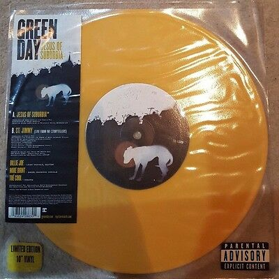 "Green day Jesus of Suburbia 10"" coloured vinyl, limited edition new and unplayed"