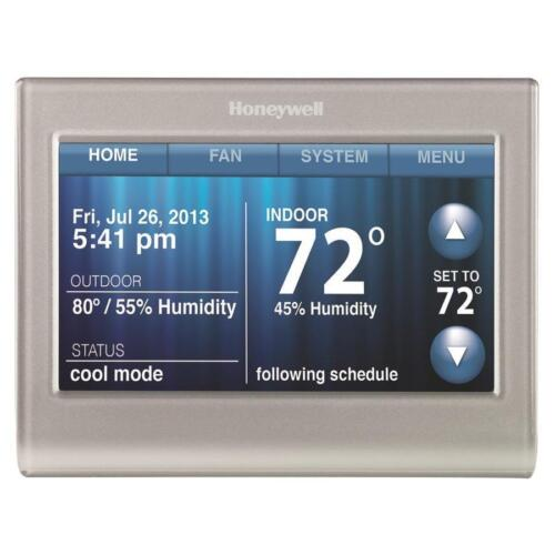 Honeywell Smart Thermostat with Wi-Fi Capability Silver RTH9580WF